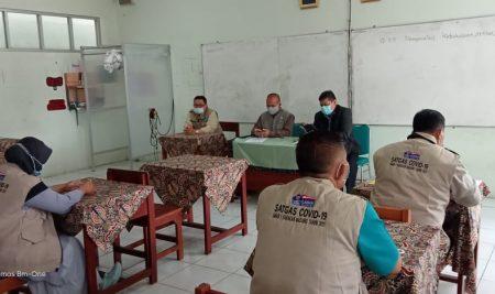 Visitasi Evaluasi Ujicoba PTM SMAN 1 Babakan Madang oleh SATGAS Covid Kab. Bogor