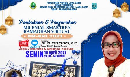 Pembuakaan Millenial Smartren Ramadhan Virtual BM-ONE 2021